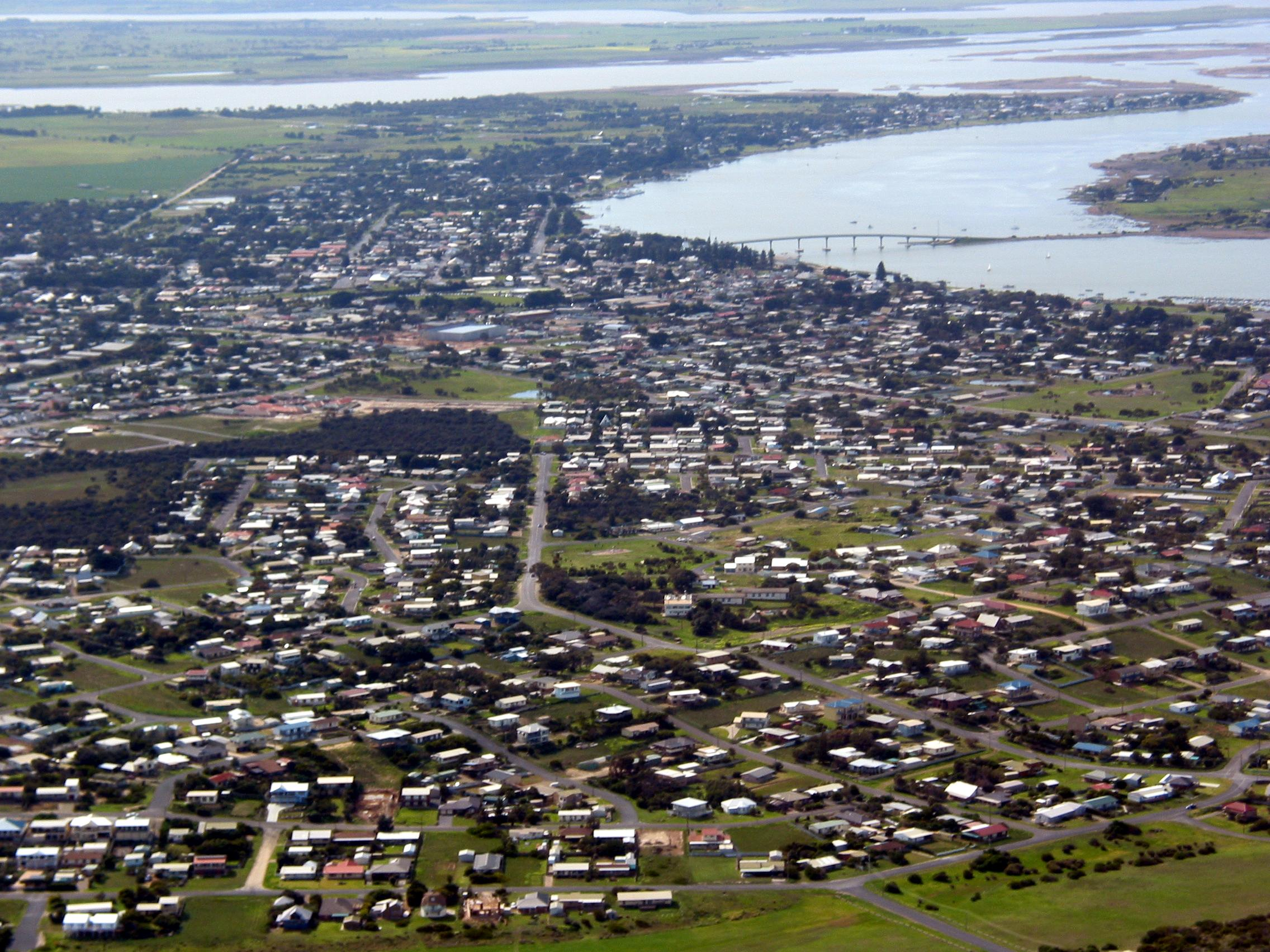View of Goolwa township